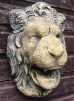 Lion head fountain mask wall plaque